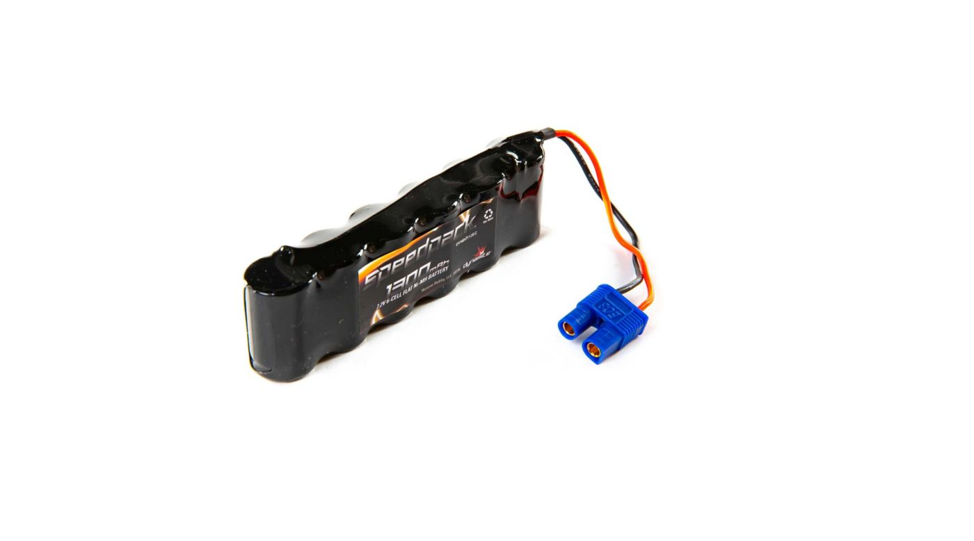 Image for 7.2V 1300mAh 6-Cell 2/3A Flat NiMH Battery: EC3 from HorizonHobby