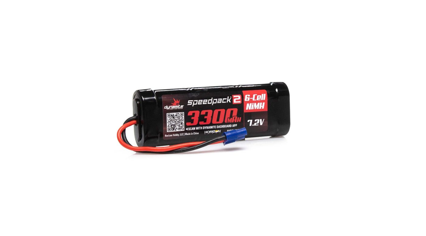 Image for 7.2V 3300mAh 6-Cell Speedpack2 Flat NiMH Battery: EC3 from HorizonHobby