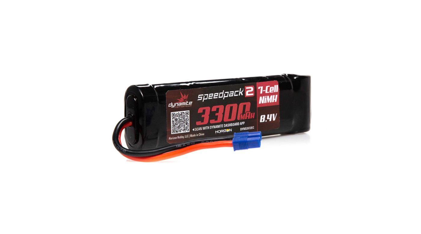 Image for 8.4V 3300mAh 7-Cell Speedpack2 Flat NiMH Battery: EC3 from HorizonHobby