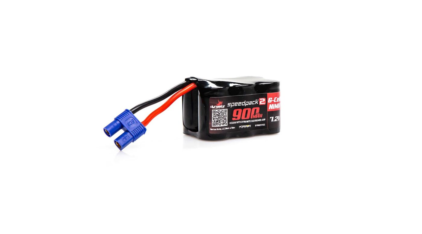 Image for Speedpack2 7.2V 900mAh 6C NiMH, 3+3, EC3 from HorizonHobby