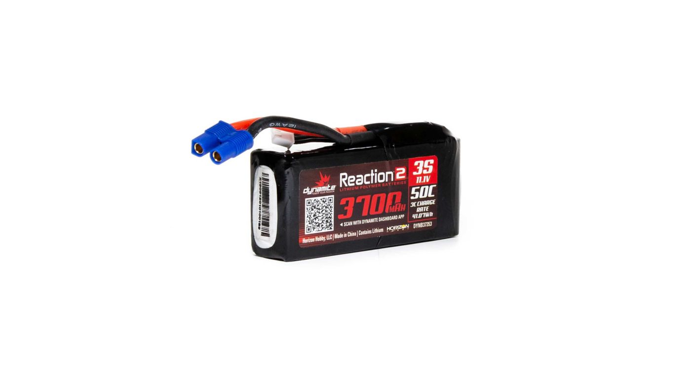 Grafik für Reaction2 11.1V 3700mAh 3S 50C LiPo: 96mm EC3 in Horizon Hobby