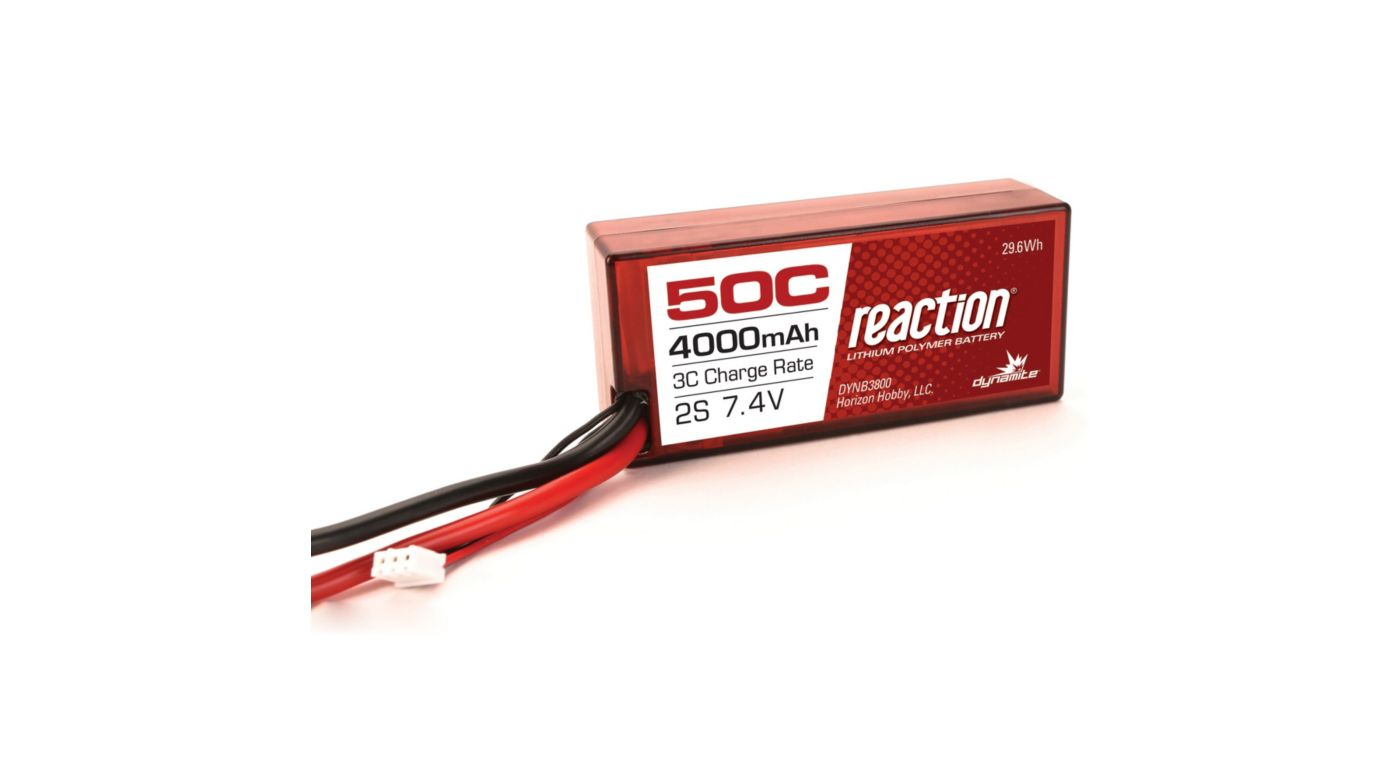 Grafik für Dynamite Reaction 2S 7,4V 4000mAh 50C LiPo-Akku im Hard Case 96 mm m. EC3-Anschluss in Horizon Hobby