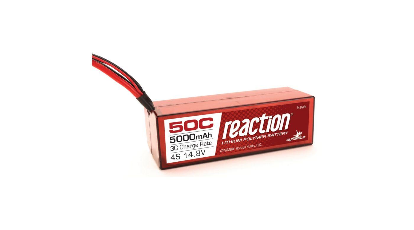 Image for Reaction 14.8V 5000mAh 50C 4S LiPo, Hardcase: TRA from HorizonHobby