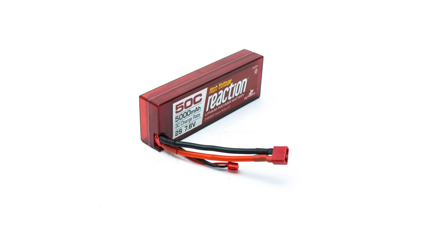 Image for Reaction HV 7.6V 5000mAh 50C 2S  LiPo, Hardcase: Deans from HorizonHobby