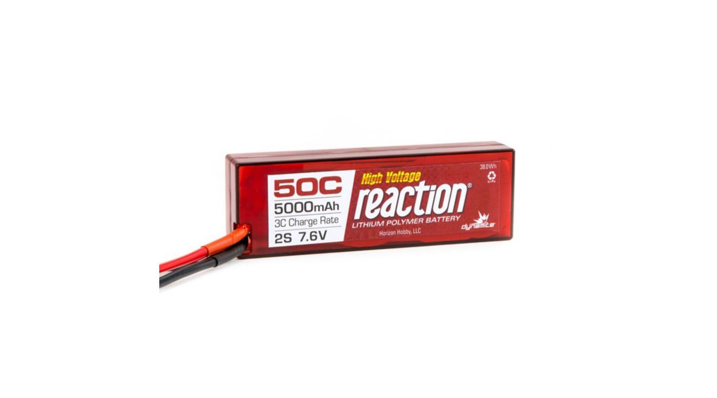 Image for Reaction HV 7.6V 5000mAh 50C 2S  LiPo, Hardcase: EC3 from HorizonHobby