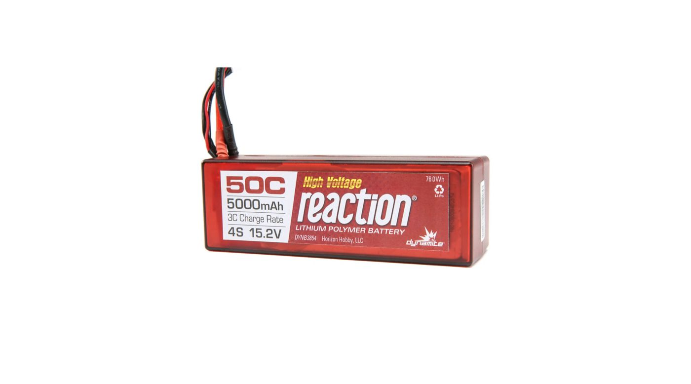 Image for Reaction HV HD 15.2V 5000mAh 50C 4S LiPo, Hardcase: EC5 from HorizonHobby