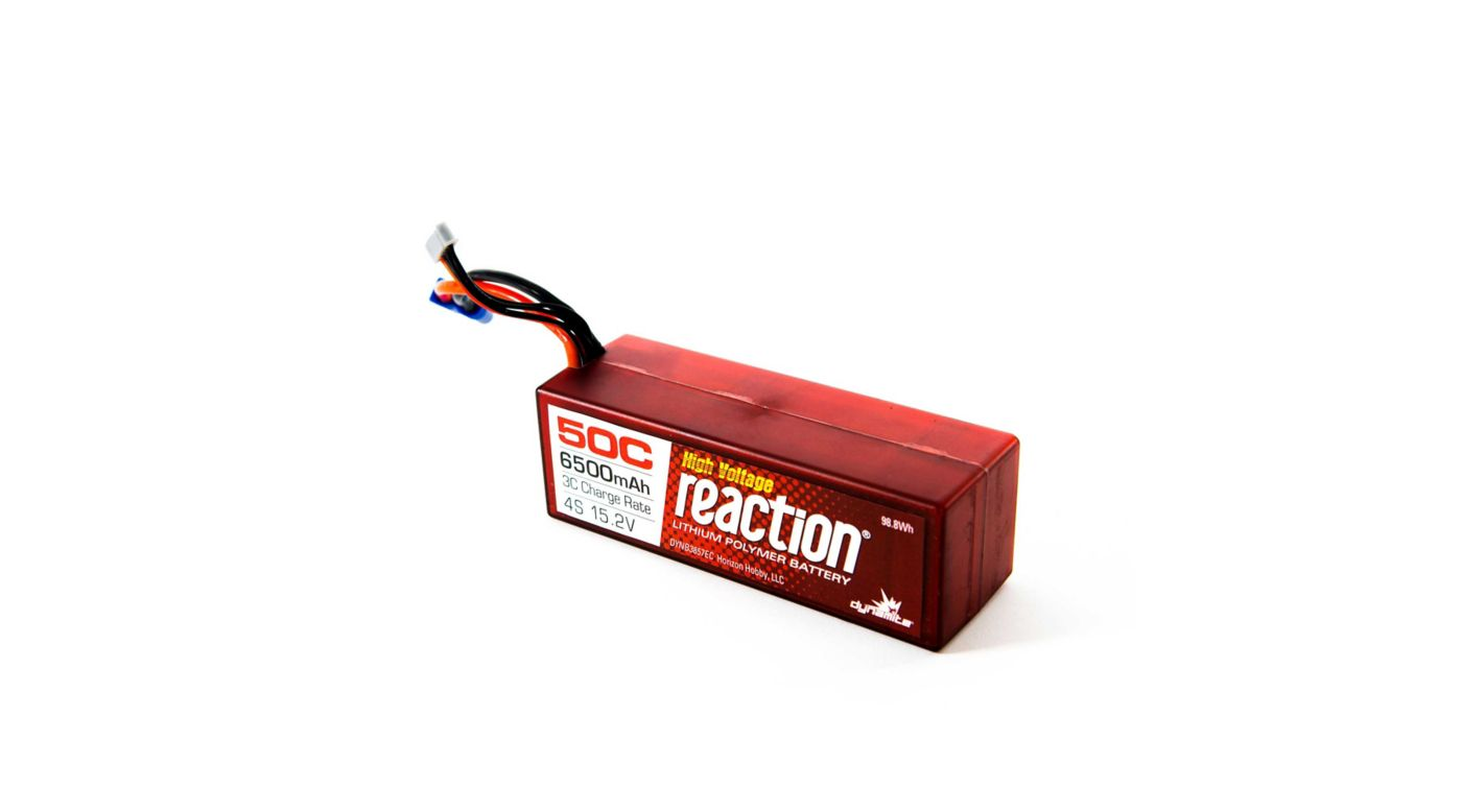 Image for Reaction HV HD 15.2V 6500mAh 50C 4S LiPo, Hardcase: EC5 from HorizonHobby
