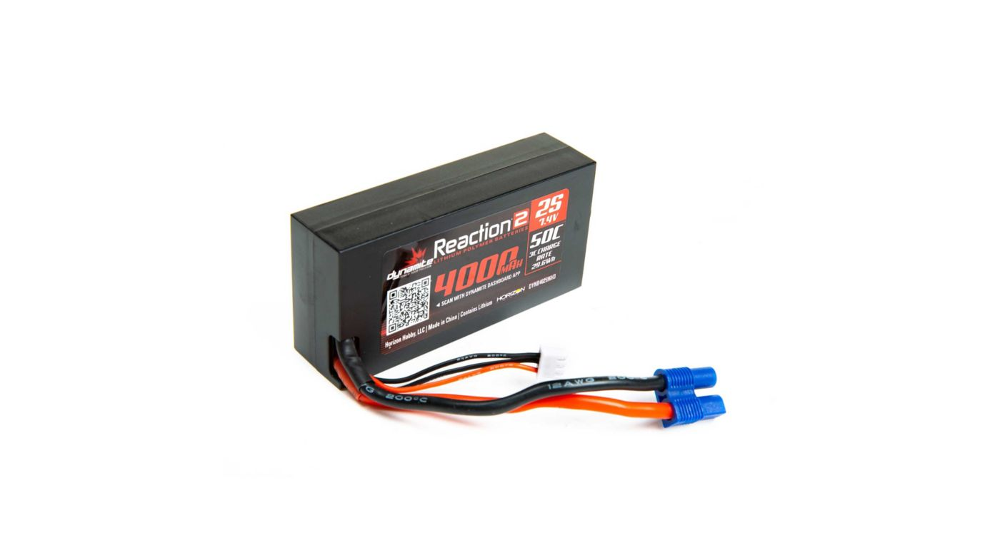Grafik für 7.4V 4000mAh 2S 50C LiPo, Hardcase: 96mm IC3 in Horizon Hobby
