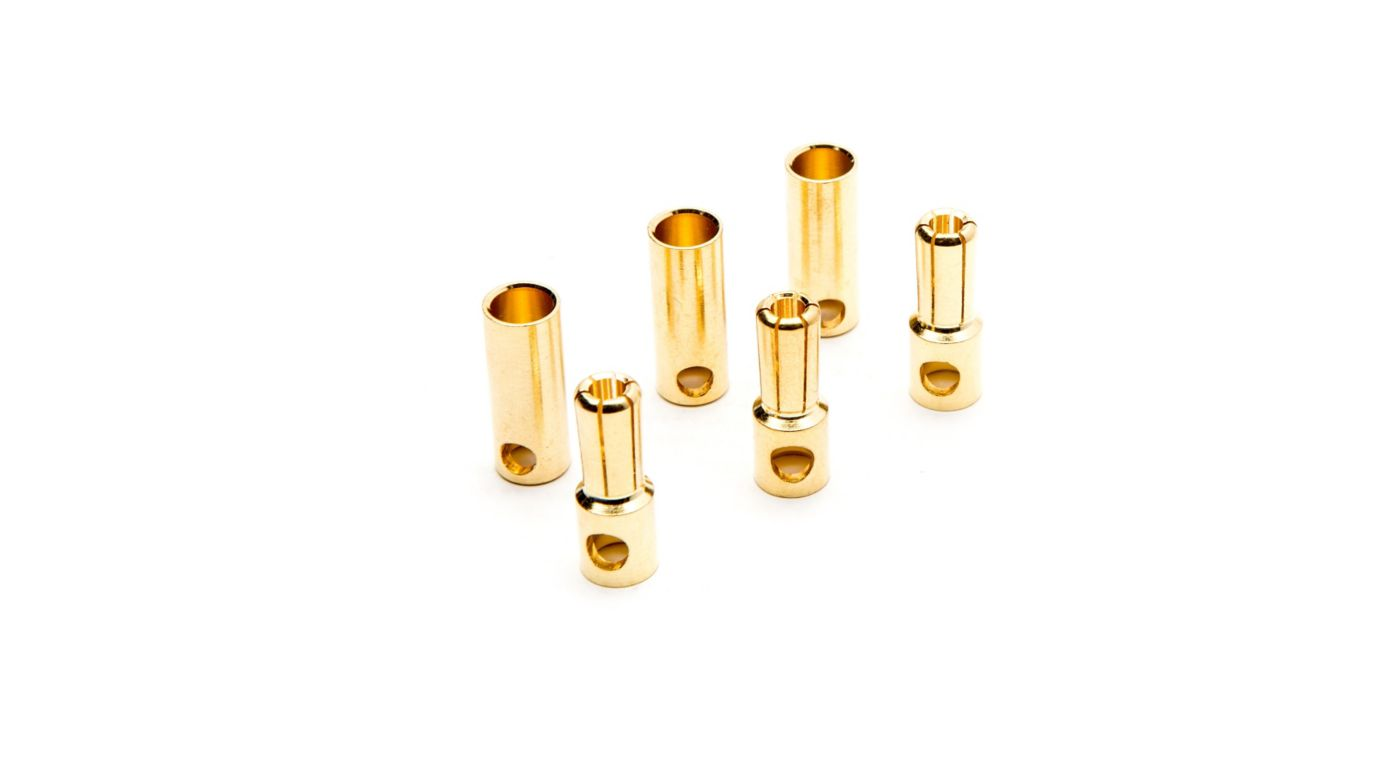 Image for Gold Bullet Connector Set, 5.5mm (3) from HorizonHobby