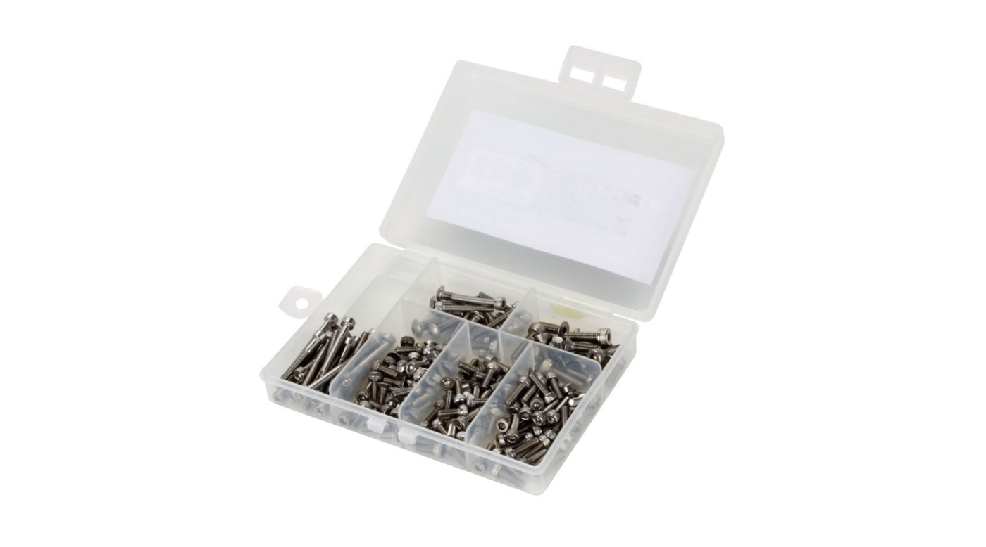 Image for Stainless Steel Screw Set: 2mm, 3mm Variety Pack from HorizonHobby