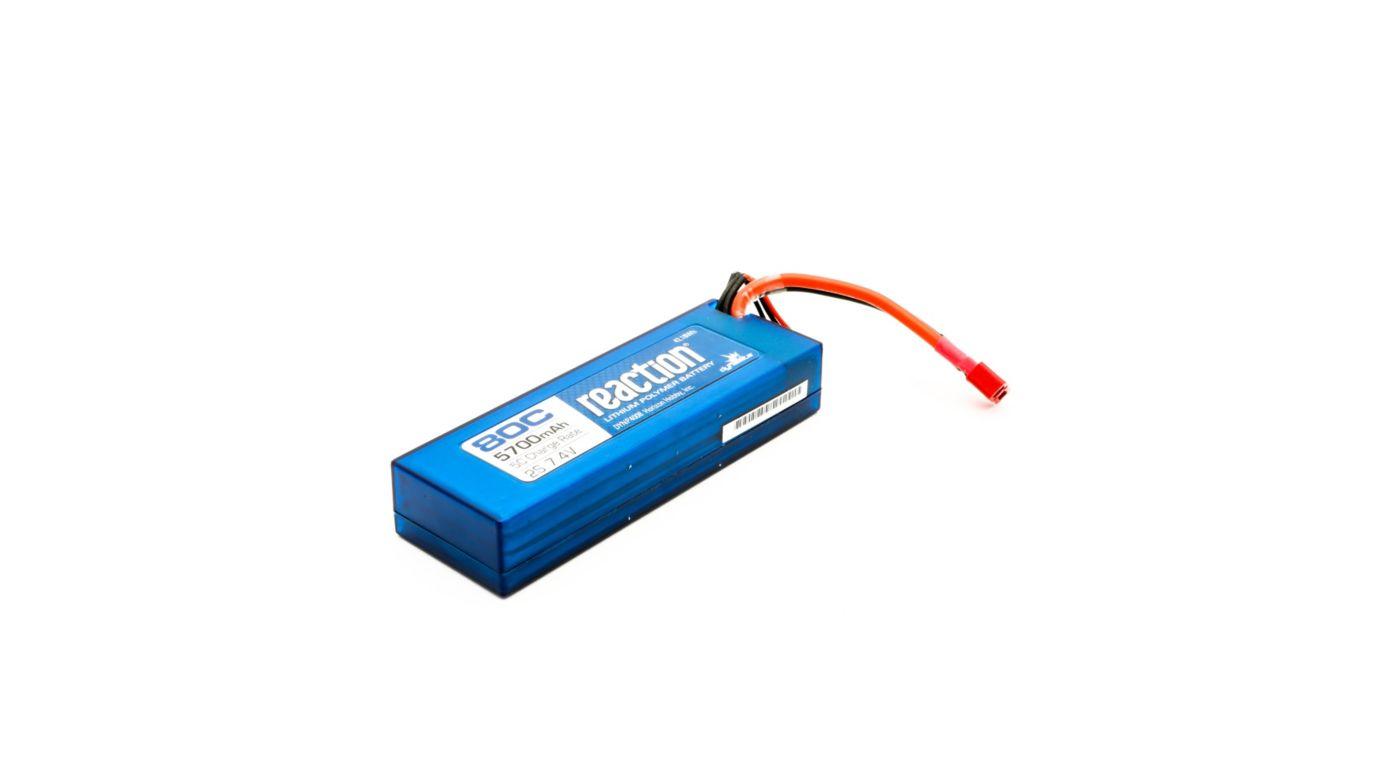 Image for 7.4V 5700mAh 2S 80C LiPo, Hardcase: Deans from HorizonHobby