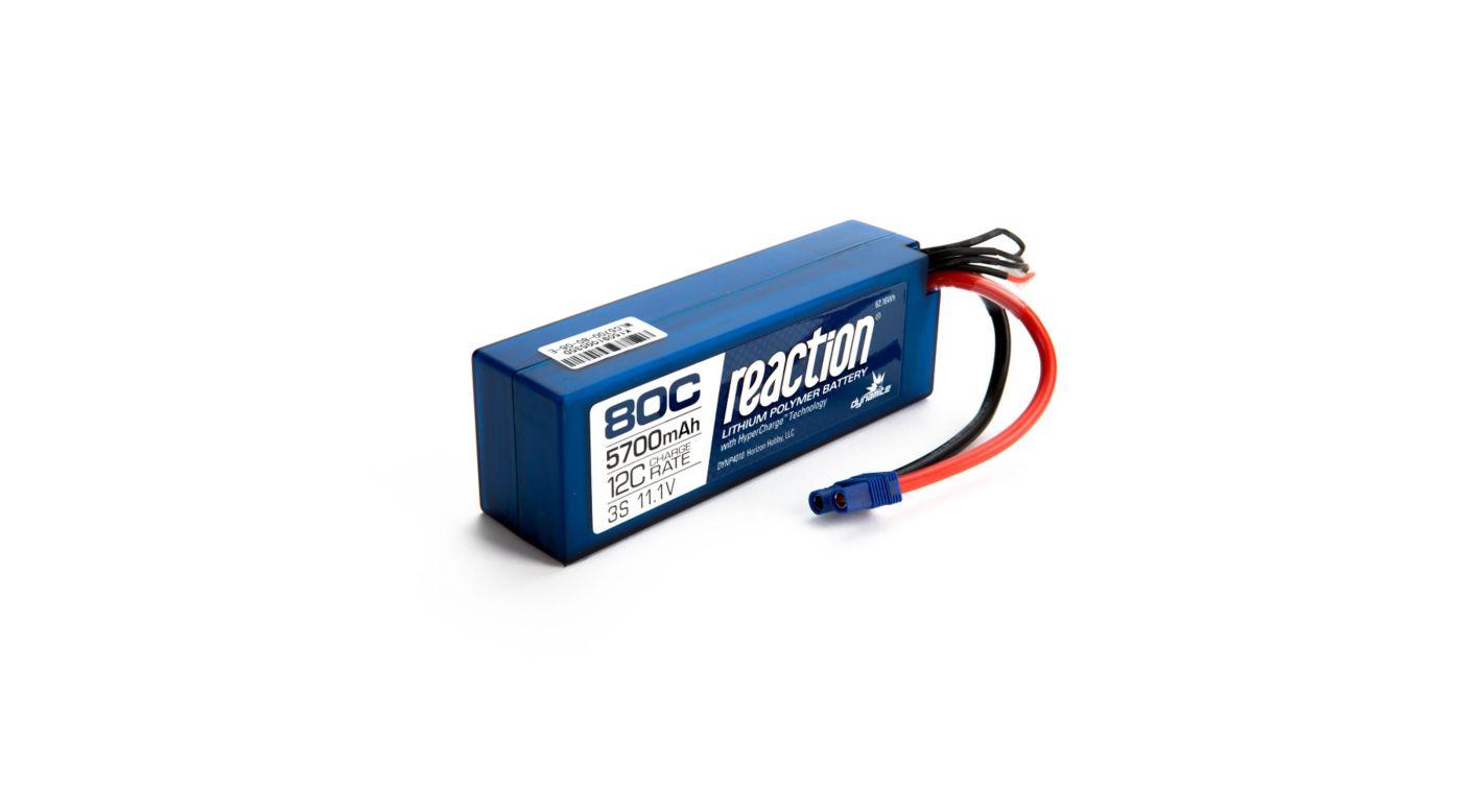 Image for 11.1V 5700mAh 3S 80C LiPo Battery: Hardcase, EC3 from HorizonHobby