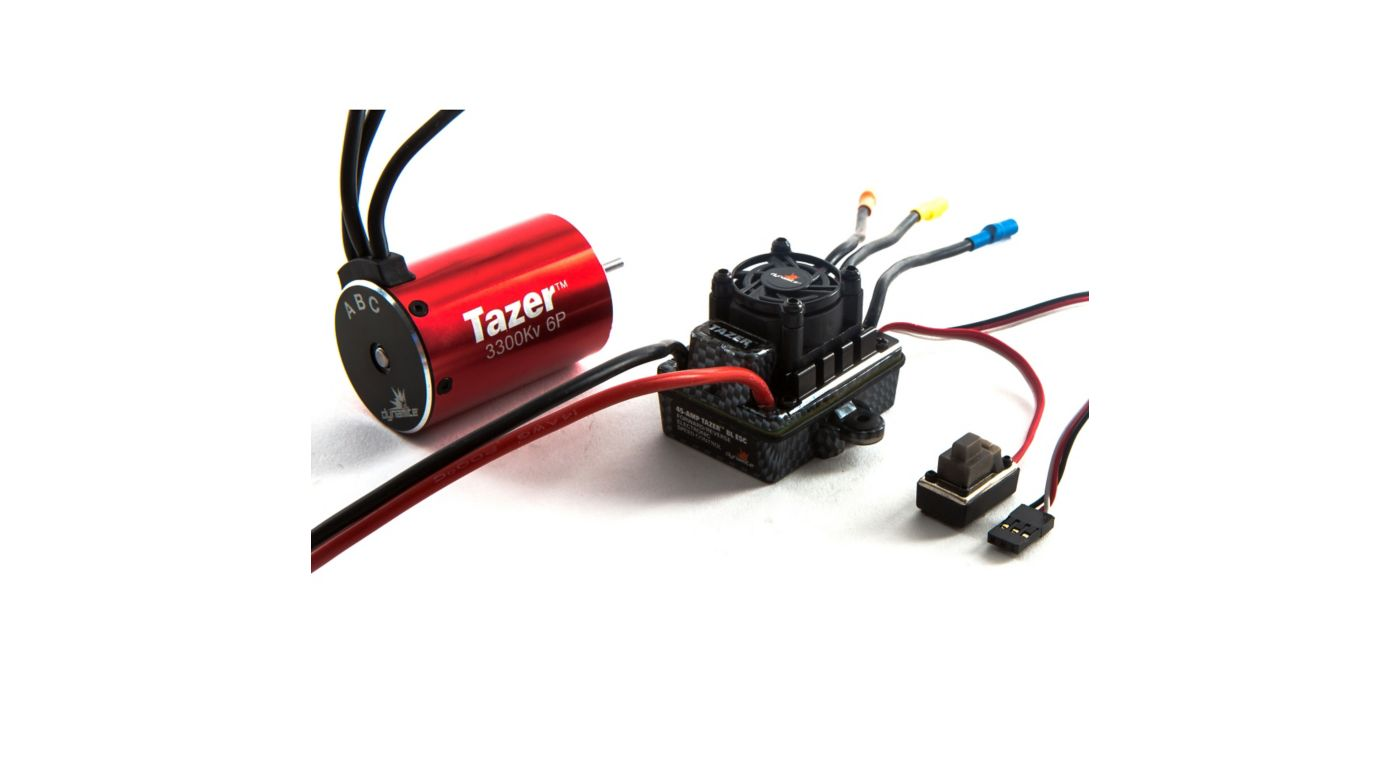 Image for Tazer 1/10 6-Pole Waterproof ESC/Brushless Motor Combo V2, 3300Kv: 3.5mm Bullet, EC3 from HorizonHobby