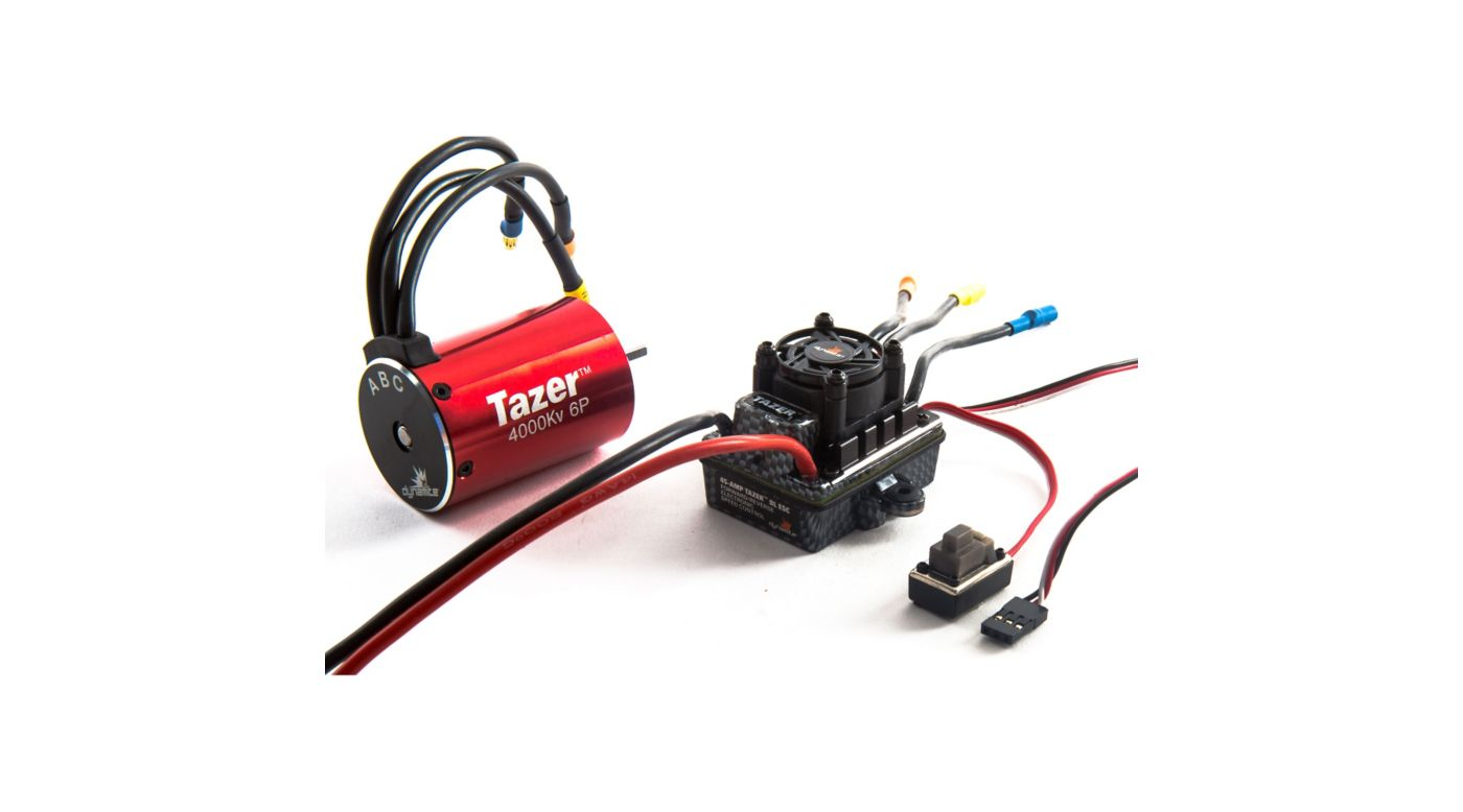 Image for Tazer 1/10 6-Pole Waterproof ESC/Brushless Motor Combo V2, 4000Kv: 3.5mm Bullet, EC3 from Horizon Hobby
