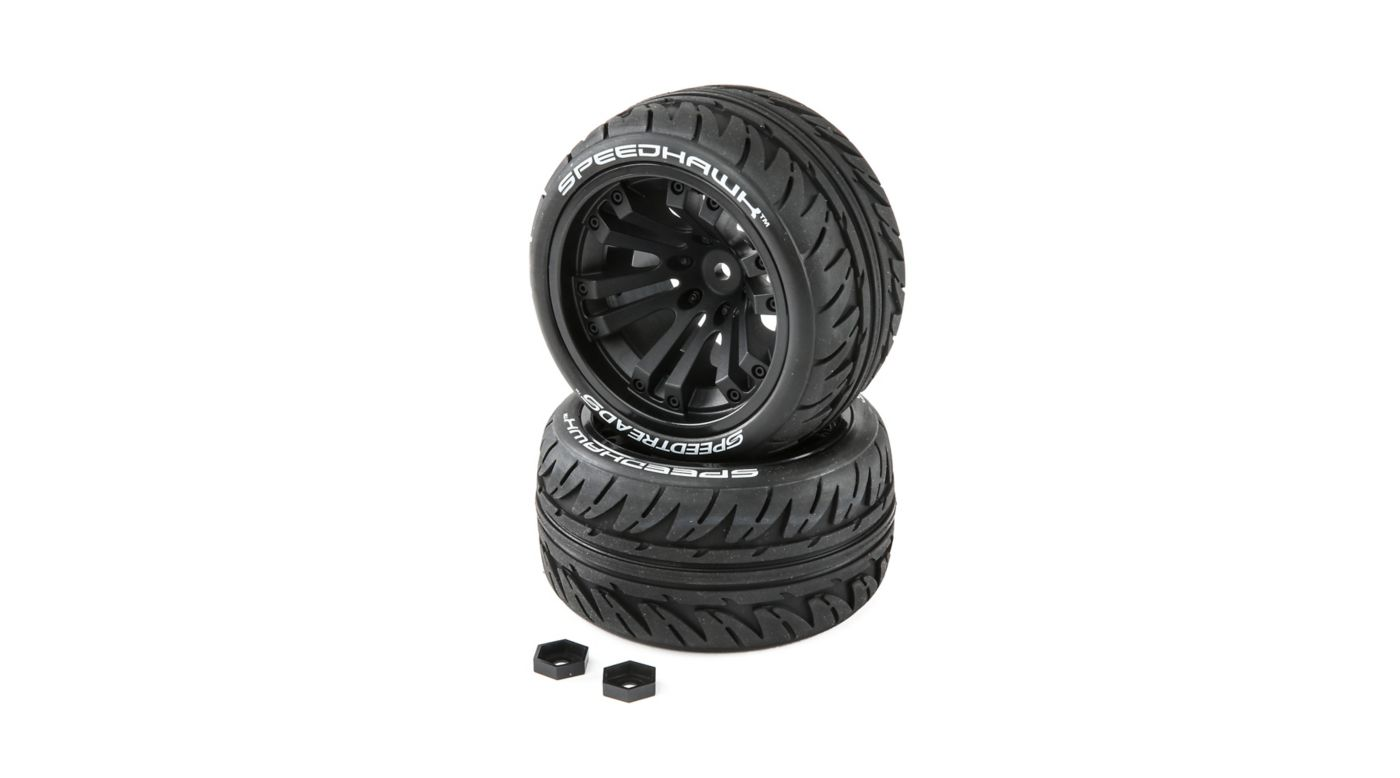 Image for Speedtreads Speedhawk 1/10 ST/MT Tires (2) Mounted from HorizonHobby