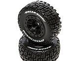 Dynamite - SpeedTreads Breakaway SC Tires Mounted, Black: Slash Rear, ECX 4X4 Front/Rear (2)
