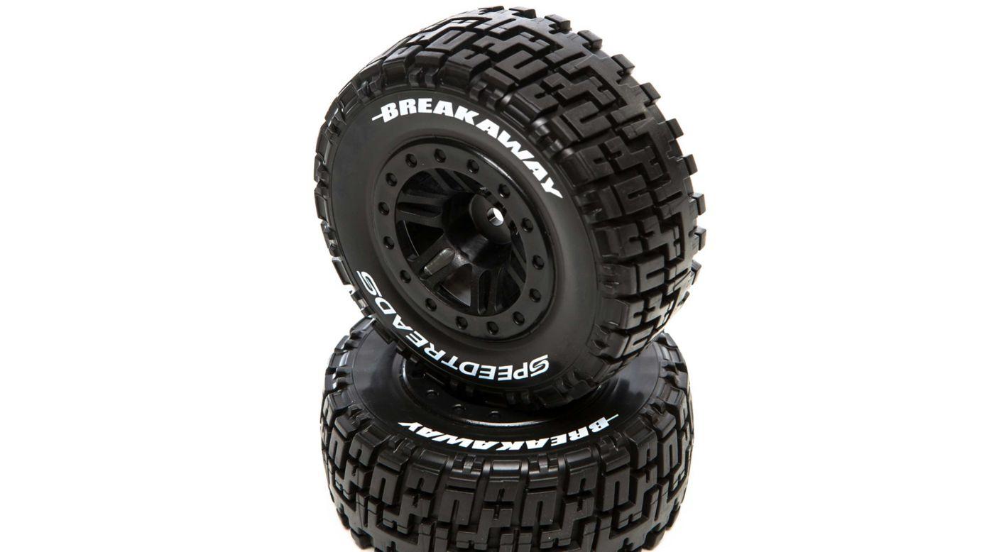 Image for SpeedTreads Breakaway SC Tires Mounted, Black: Slash Rear, ECX 4X4 Front/Rear (2) from HorizonHobby