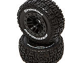 Dynamite - SpeedTreads Shootout SC Mounted, Black: SLH R, ECX 4X4 Front/Rear (2)