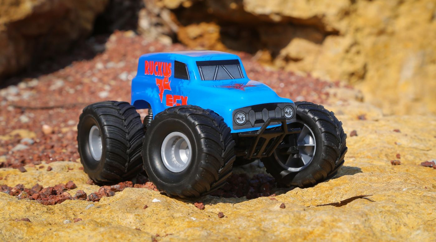 Image for 1/28 Micro Ruckus 2WD Monster Truck RTR, Blue from HorizonHobby