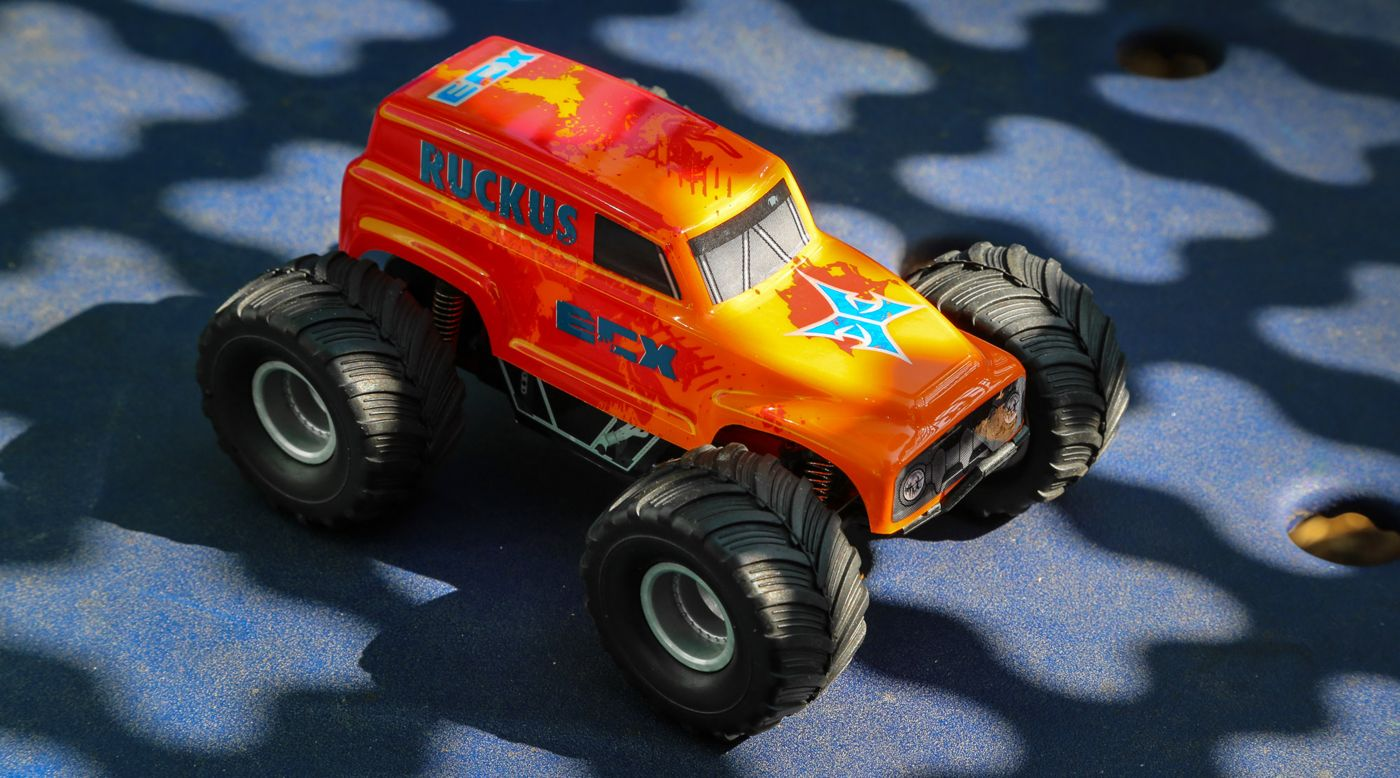 Image for 1/28 Micro Ruckus 2WD Monster Truck RTR, Orange from HorizonHobby