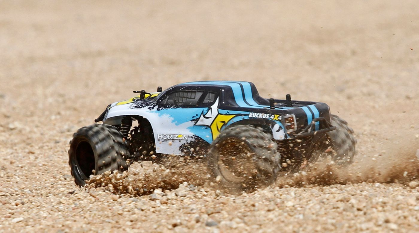 Image for 1/24 Ruckus 4WD Monster Truck RTR, Black/White from HorizonHobby