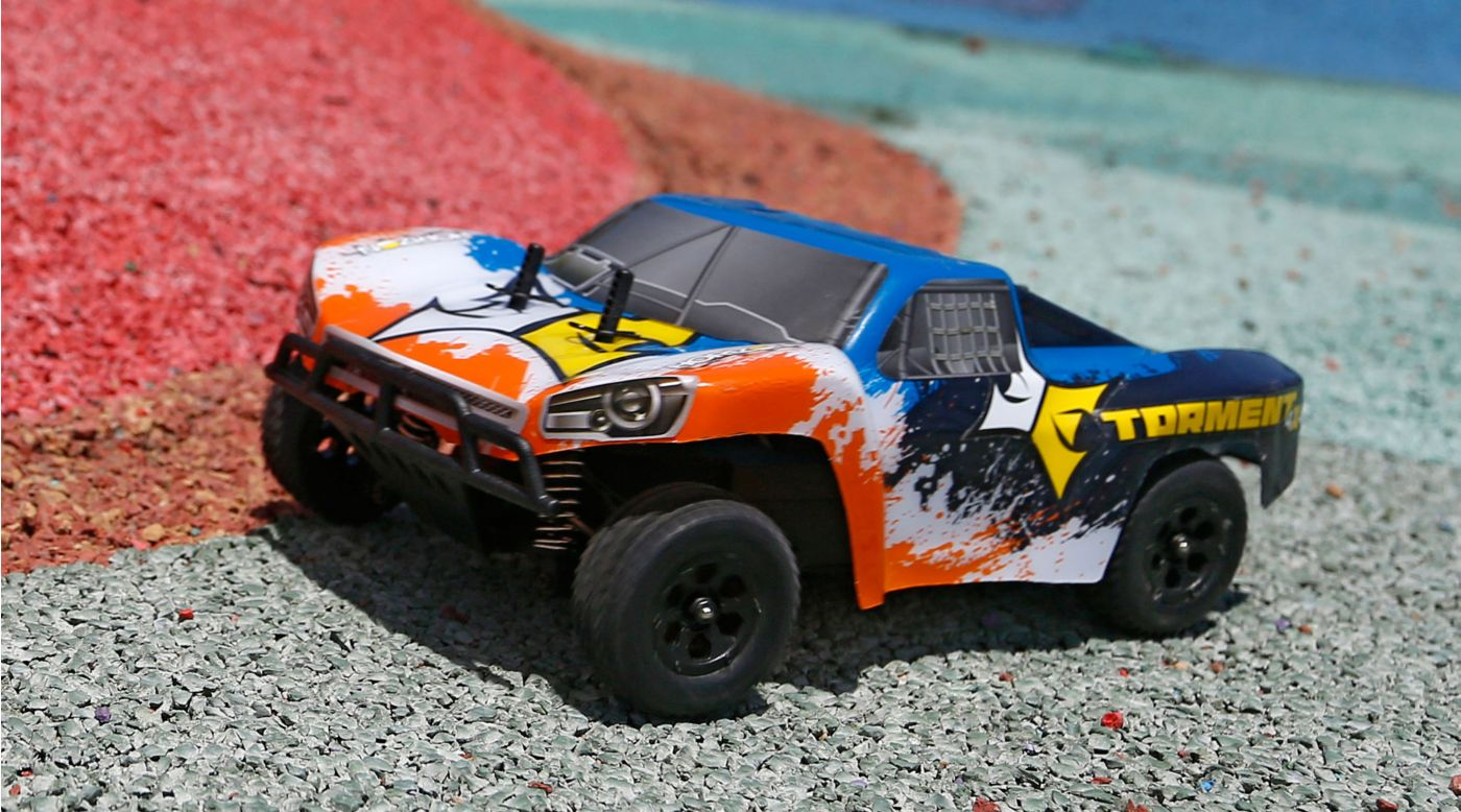 Image for 1/24 Torment 4WD SCT RTR, Black/Orange from Horizon Hobby