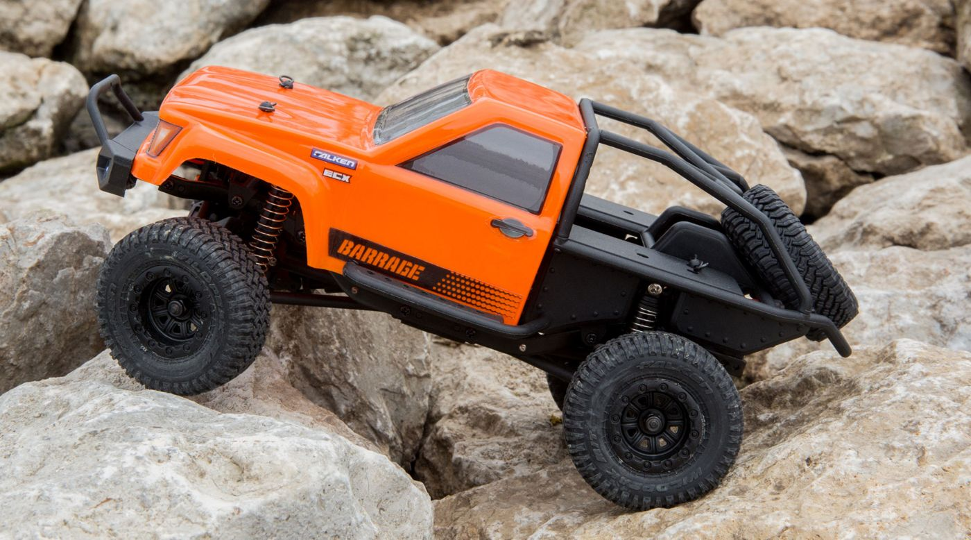 Image for 1/24 Barrage 4WD Scaler Rock  Crawler RTR, Orange from HorizonHobby