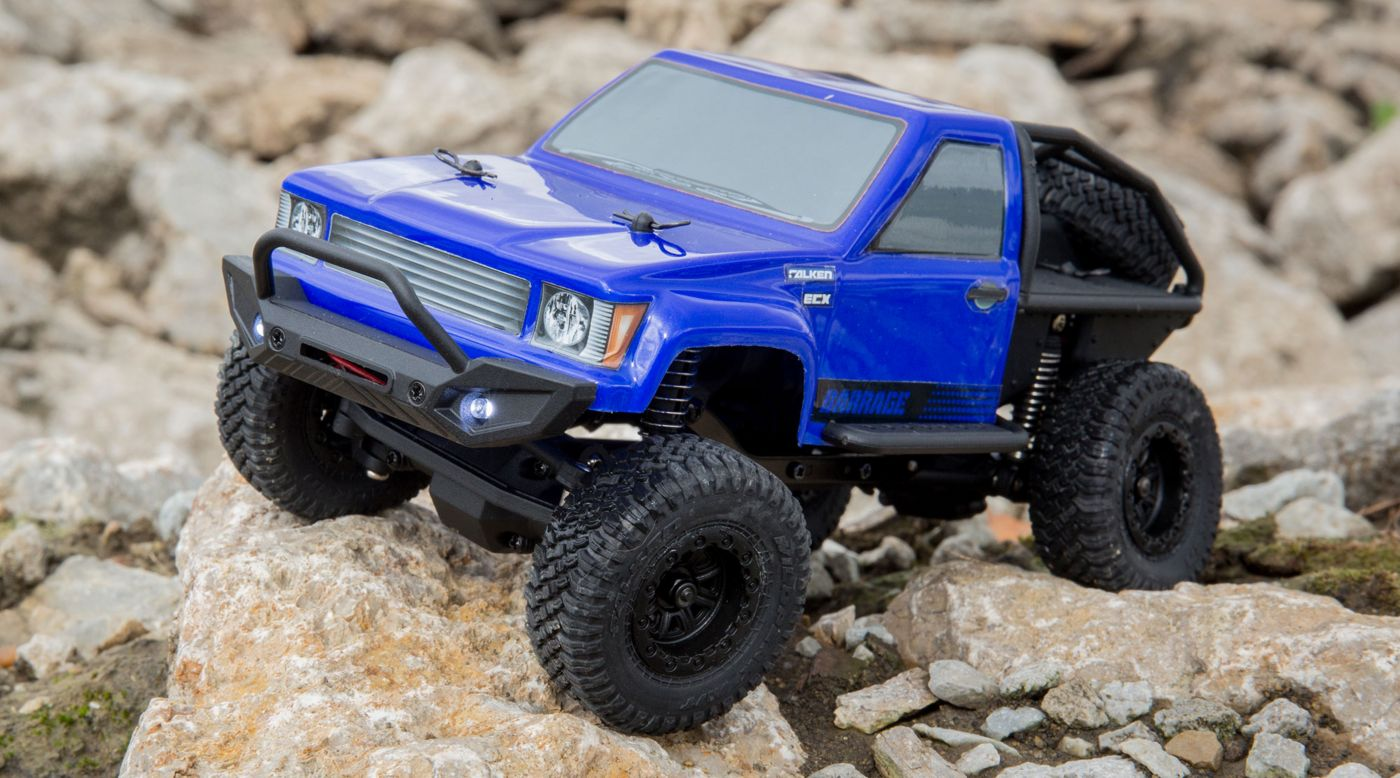 Image for 1/24 Barrage 4WD Scaler Rock Crawler RTR, Blue from HorizonHobby