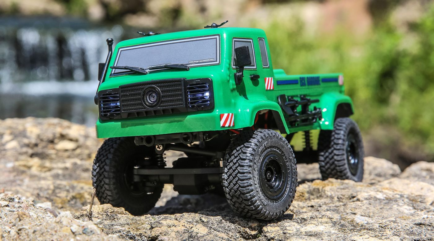 Image for 1/24 Barrage UV 4WD Scaler Crawler RTR FPV, Green from HorizonHobby