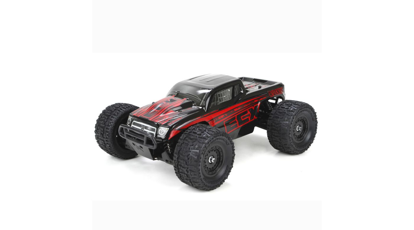 Image for 1/18 Ruckus 4WD Monster Truck RTR, Black/Red INT from Horizon Hobby