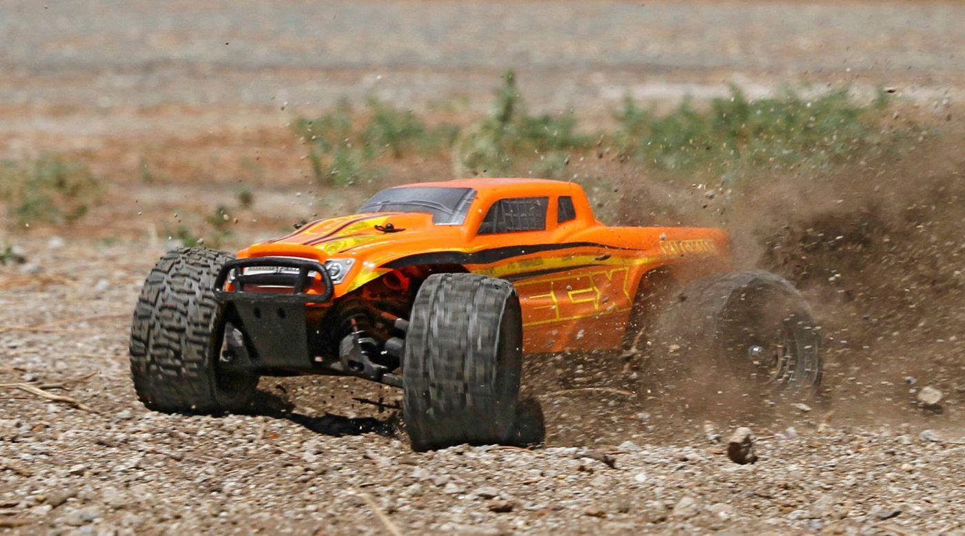 Image for 1/18 Ruckus 4WD Monster Truck RTR, Orange/Yellow from HorizonHobby