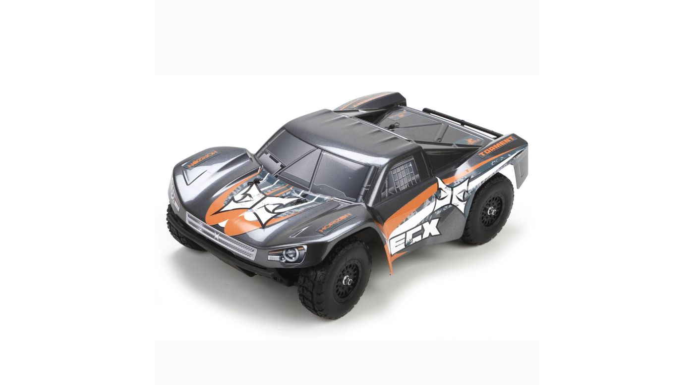 Image for 1/18 Torment 4WD Short Course Truck RTR, Gray/Orange INT from Horizon Hobby