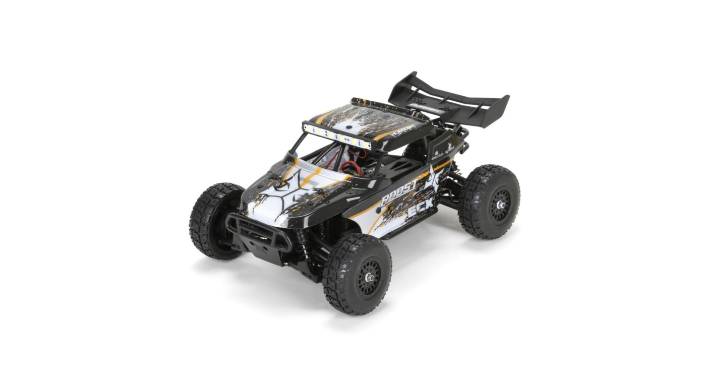 Image for 1/18 Roost 4WD Desert Buggy Brushed RTR, Black/Orange from HorizonHobby