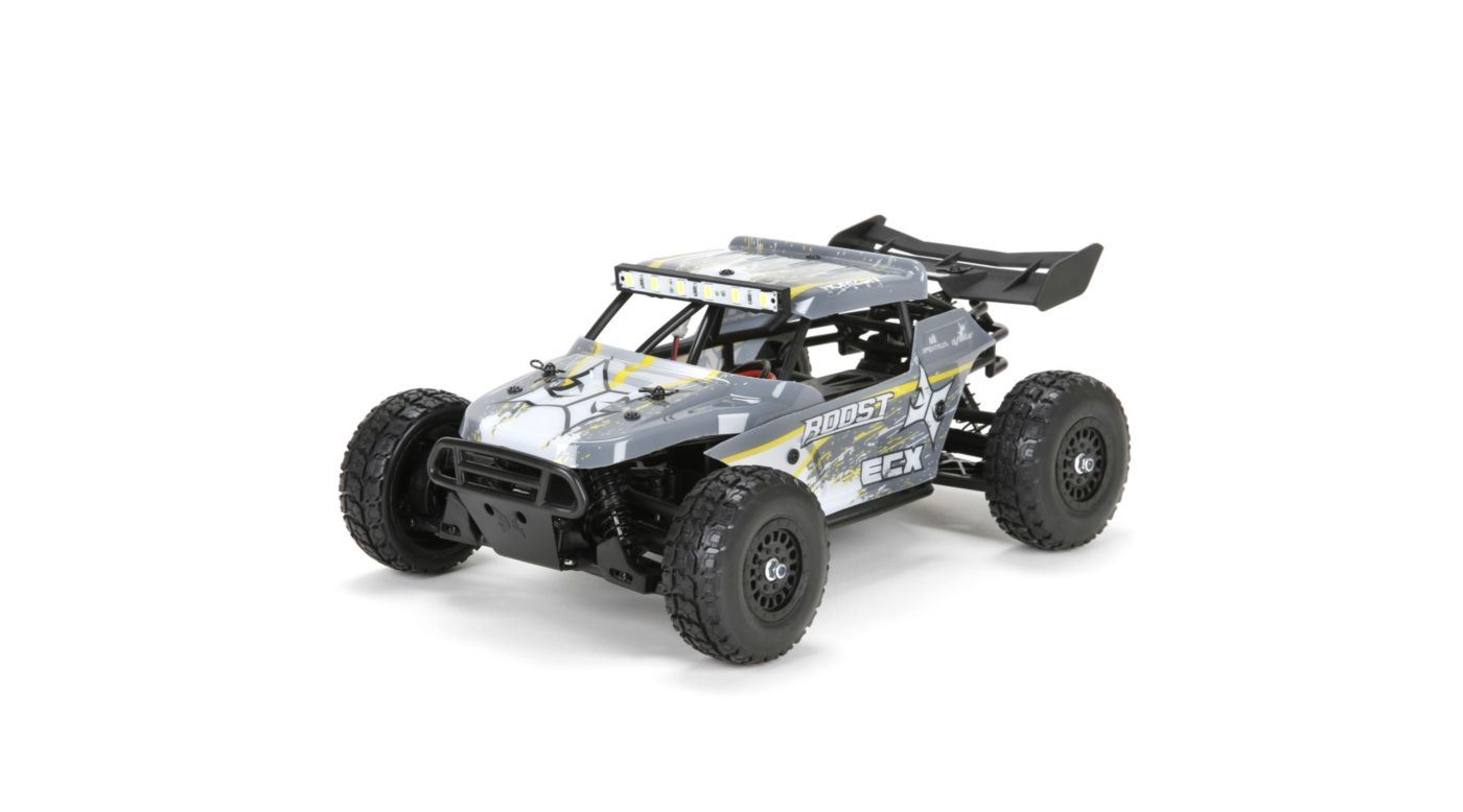 Image for 1/18 Roost 4WD Desert Buggy Brushed RTR, Grey/Yellow from HorizonHobby
