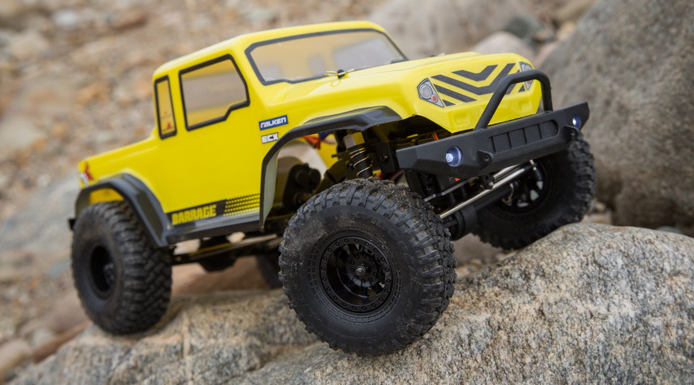 Image for 1/12 Barrage Gen2 1.55 4WD Scaler Brushed RTR: Yellow from HorizonHobby