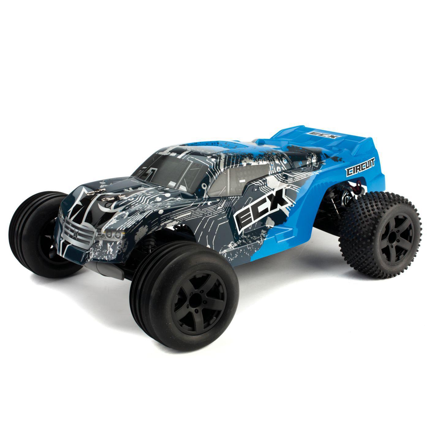 1 10 circuit 2wd stadium truck rtr blue silver horizon hobby rh horizonhobby com Electrix RC Bodies RC Turbo