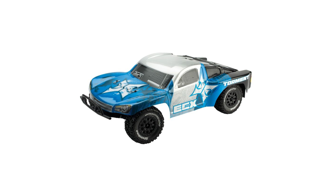 Image for 1/10 Torment 2WD SCT RTR, Silver/Blue from HorizonHobby