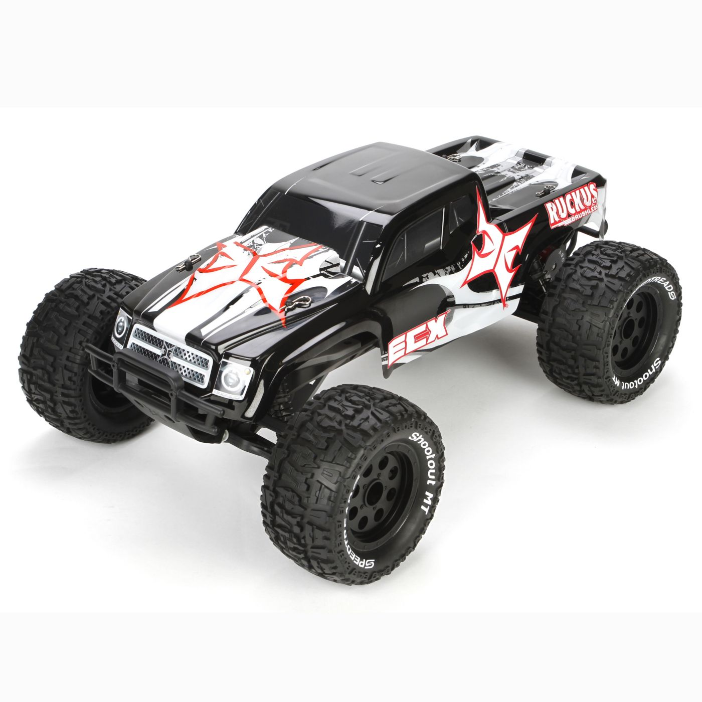Ecx 1 10 Ruckus 2wd Brushless Rc Monster Truck Rtr Black