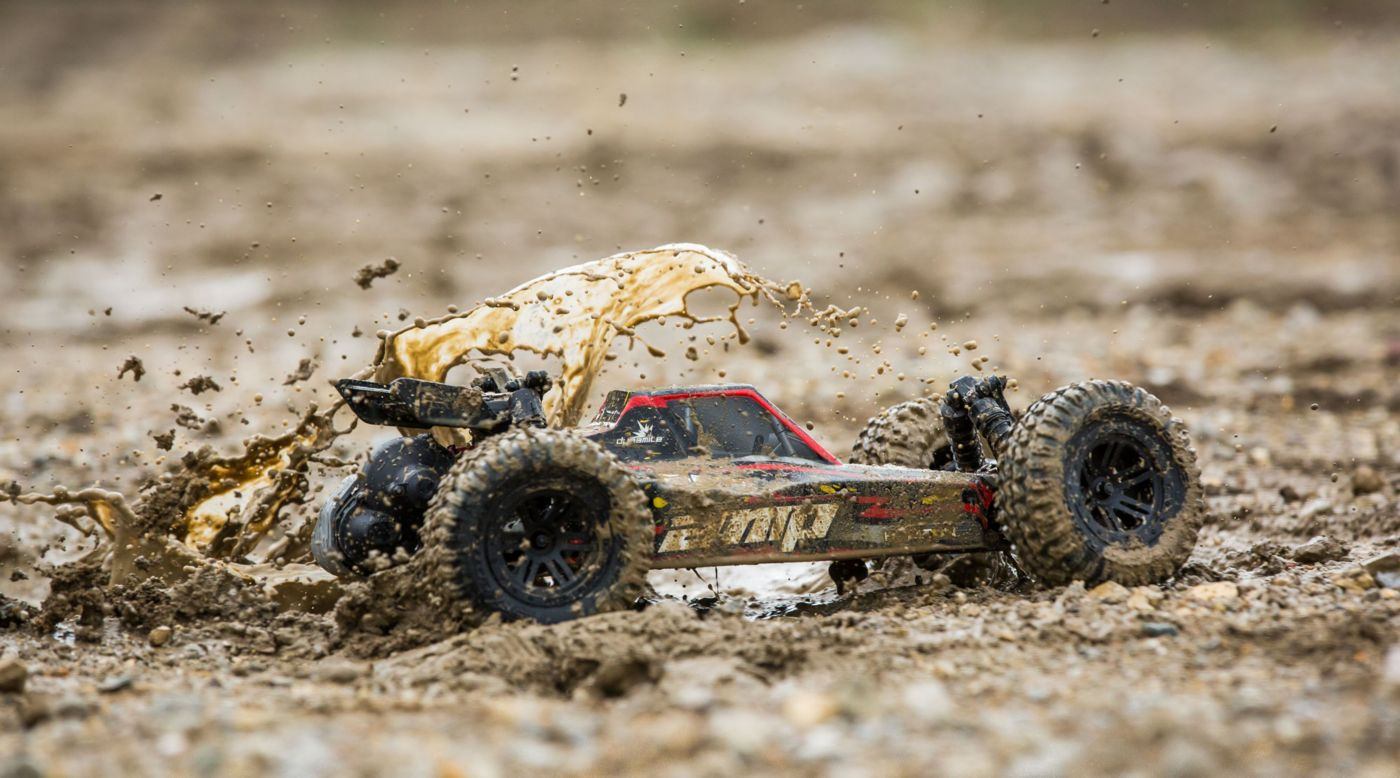 Image for 1/10 AMP DB 2WD Desert Buggy Brushed RTR, Black/Yellow from HorizonHobby