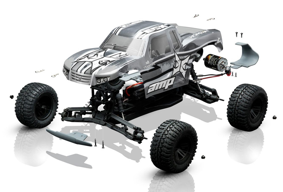 1/10 AMP Monster Truck Kit with Unpainted Body - ECX03034 - Learn More