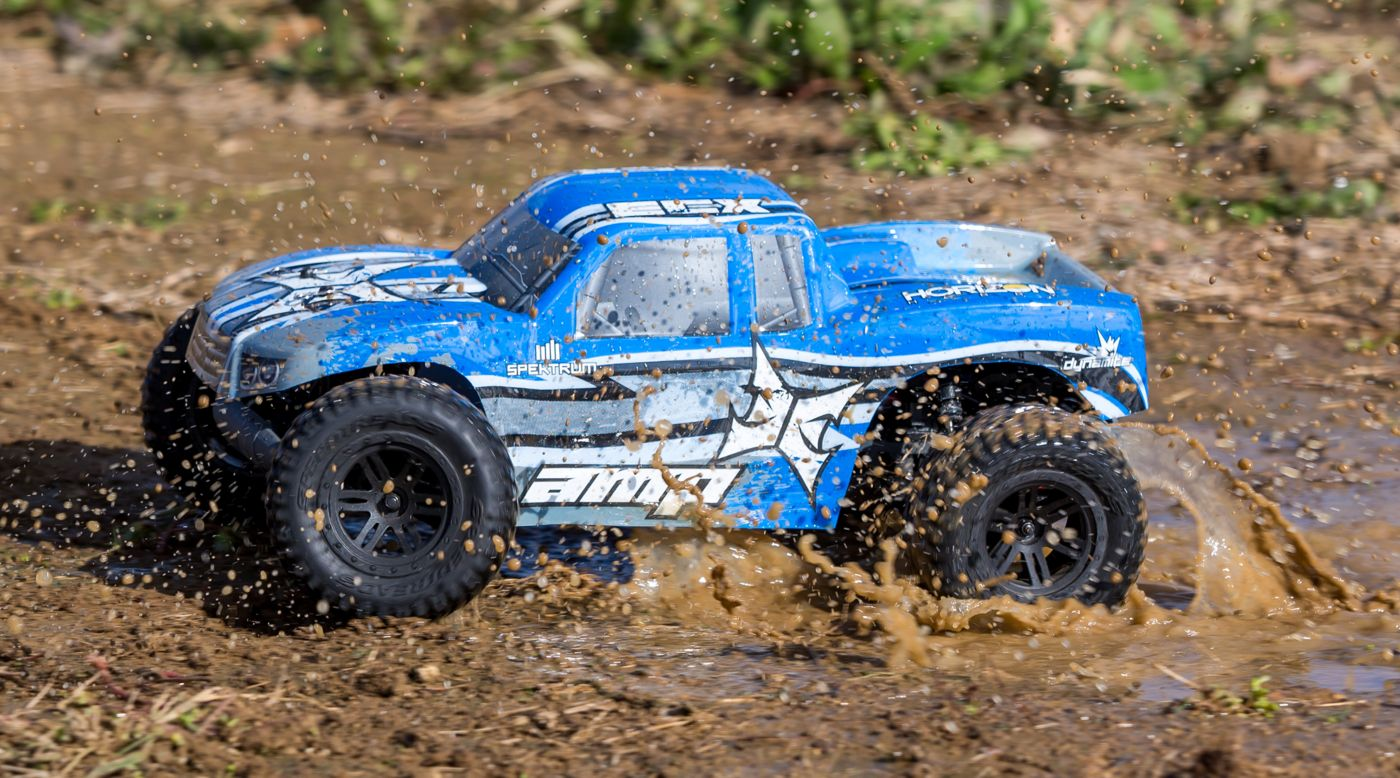 Image for 1/10 AMP MT 2WD Monster Truck Brushed BTD Kit with Unpainted Body from HorizonHobby