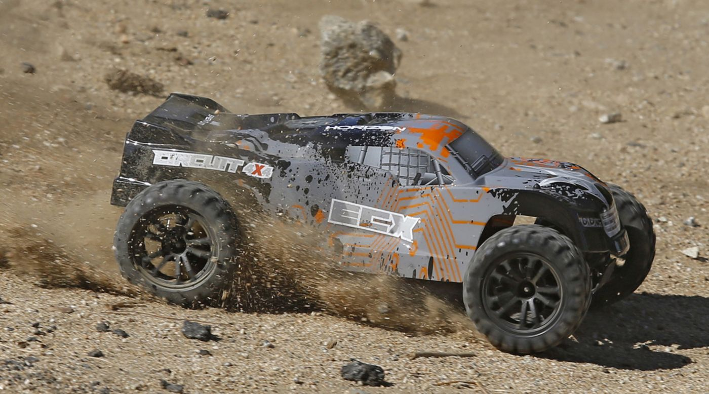 Image for 1/10 Circuit 4WD Stadium Truck Brushed RTR, Black/Orange from HorizonHobby
