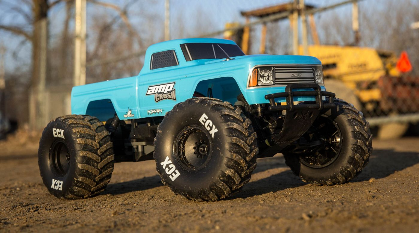 Image pour 1/10 Amp Crush 2WD Monster Truck Brushed RTR International, Blue à partir de Horizon Hobby