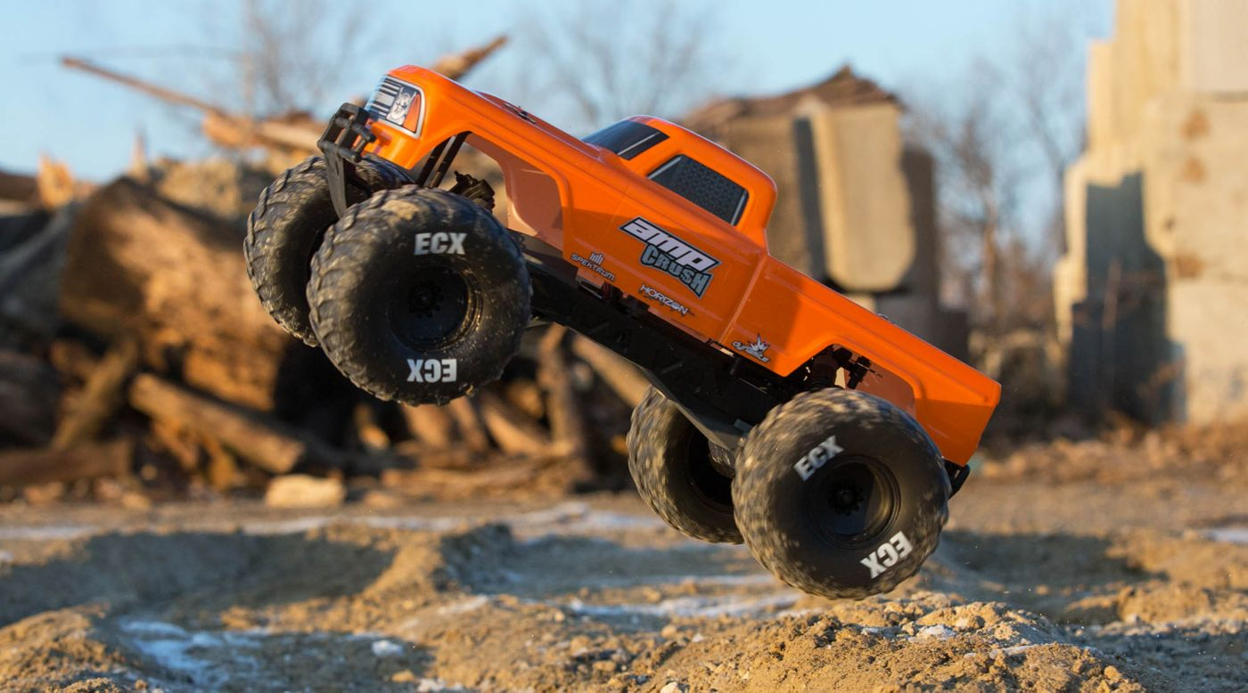 Image for 1/10 Amp Crush 2WD Monster Truck Brushed RTR, Orange from HorizonHobby