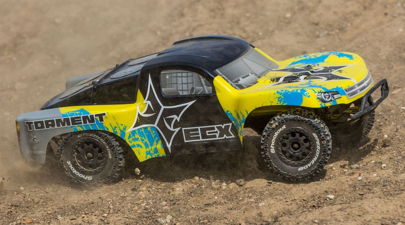 Image for RECALLED - 1/10 Torment 2WD SCT, Brushed, LiPo, RTR, Yellow/Blue from HorizonHobby