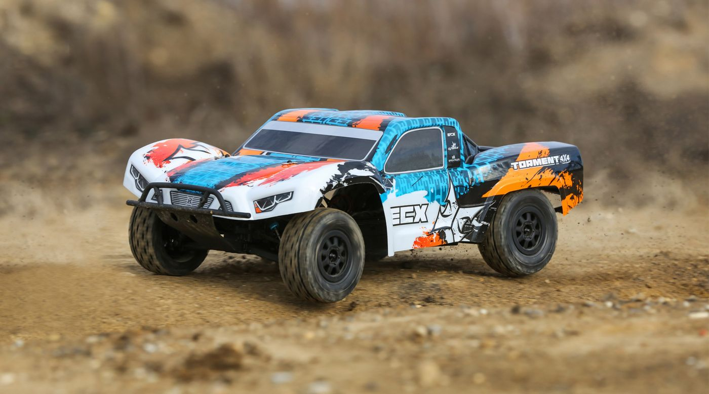 Image for 1/10 Torment 4WD SCT Brushed RTR, Orange/Blue from HorizonHobby
