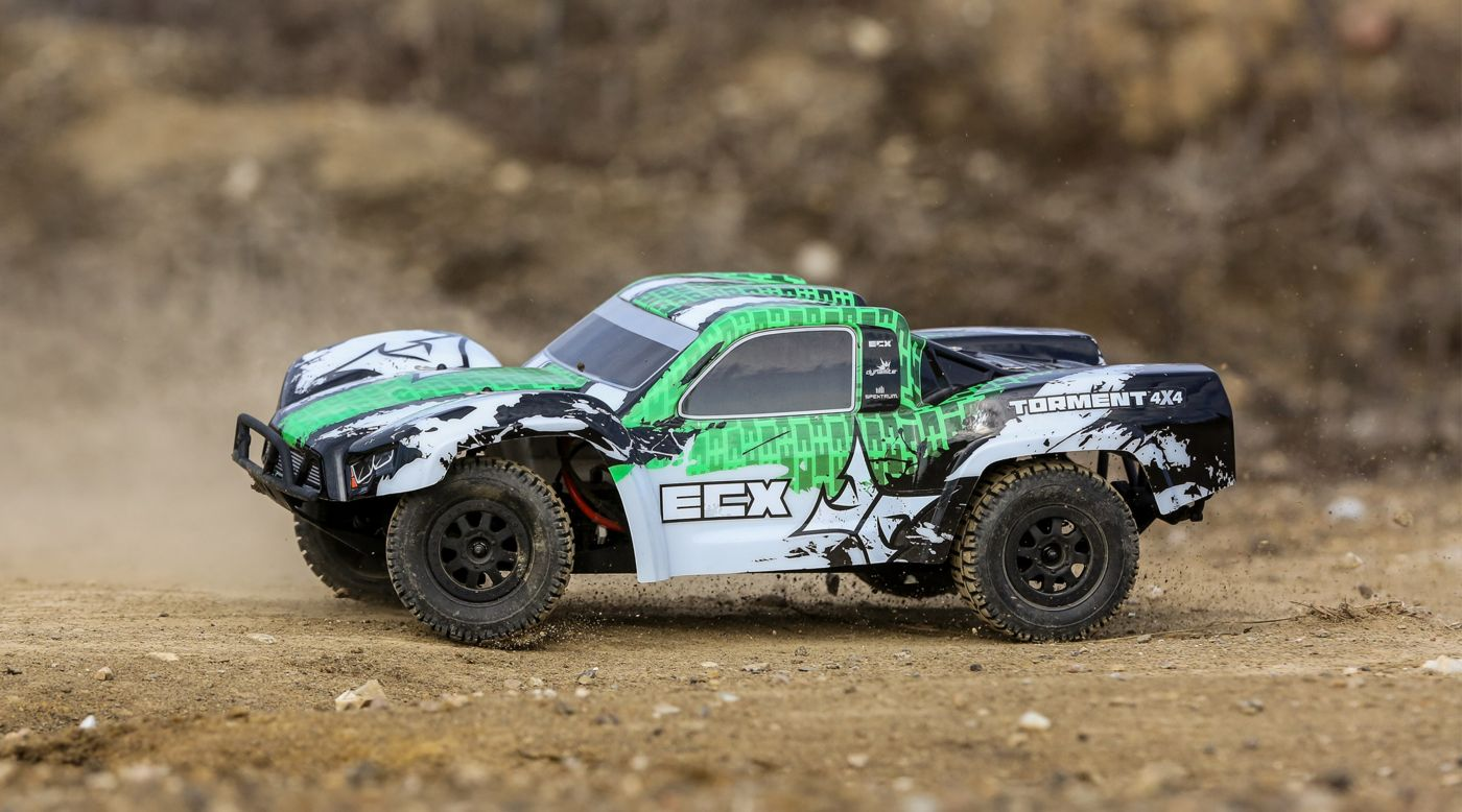 Image for 1/10 Torment 4WD SCT Brushed RTR, White/Green from HorizonHobby