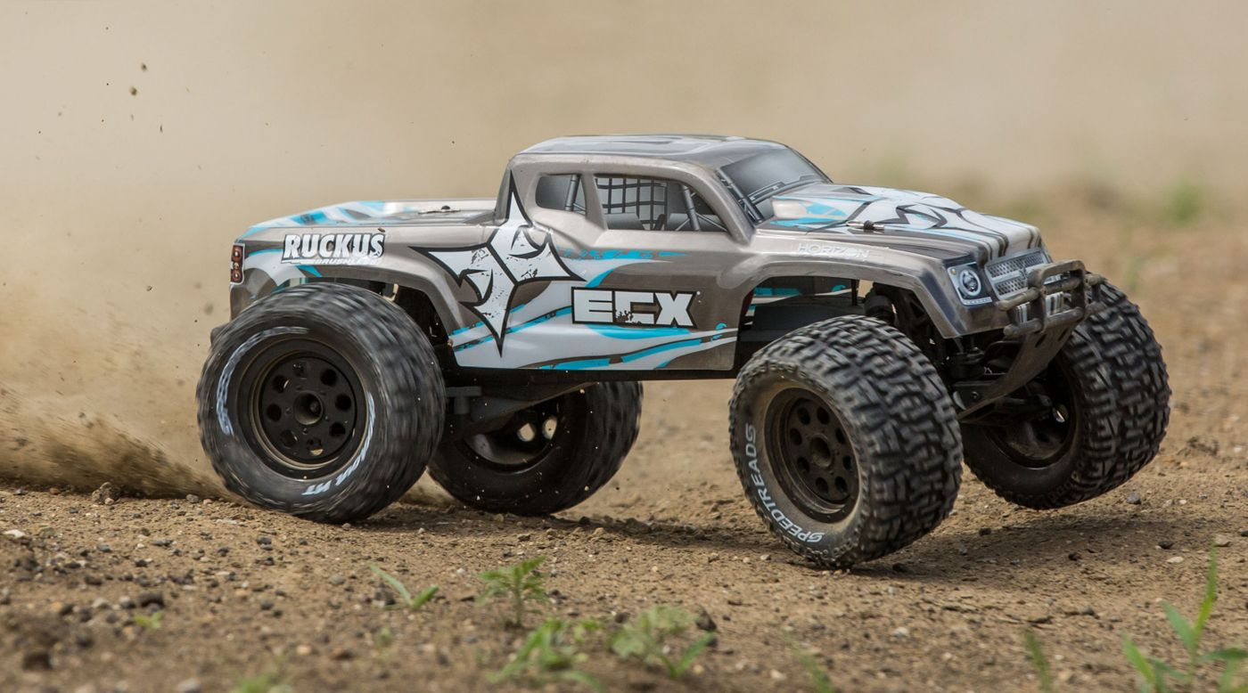 Image for 1/10 Ruckus 2WD Monster Truck Brushless with LiPo RTR, Silver from HorizonHobby