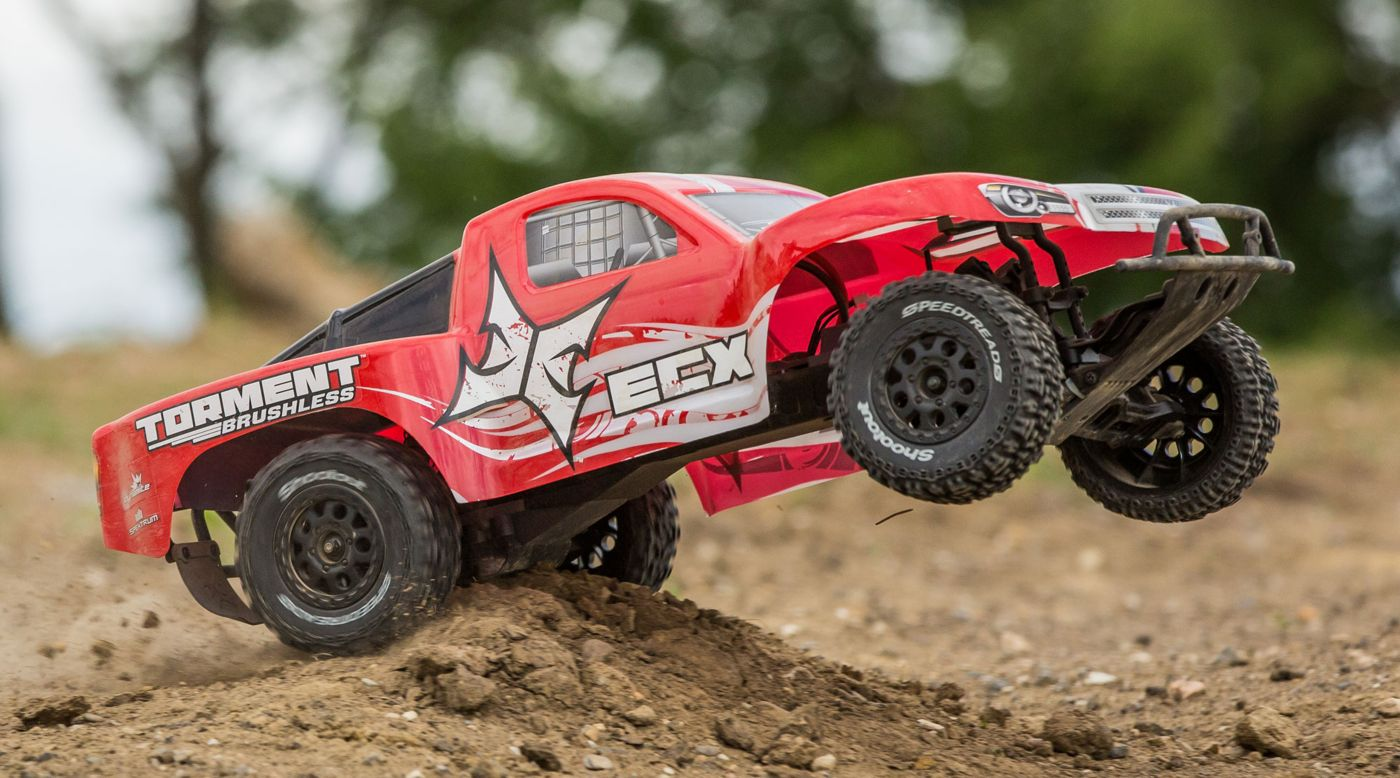 Image for 1/10 Torment 2WD SCT Brushless with LiPo RTR, Red from HorizonHobby