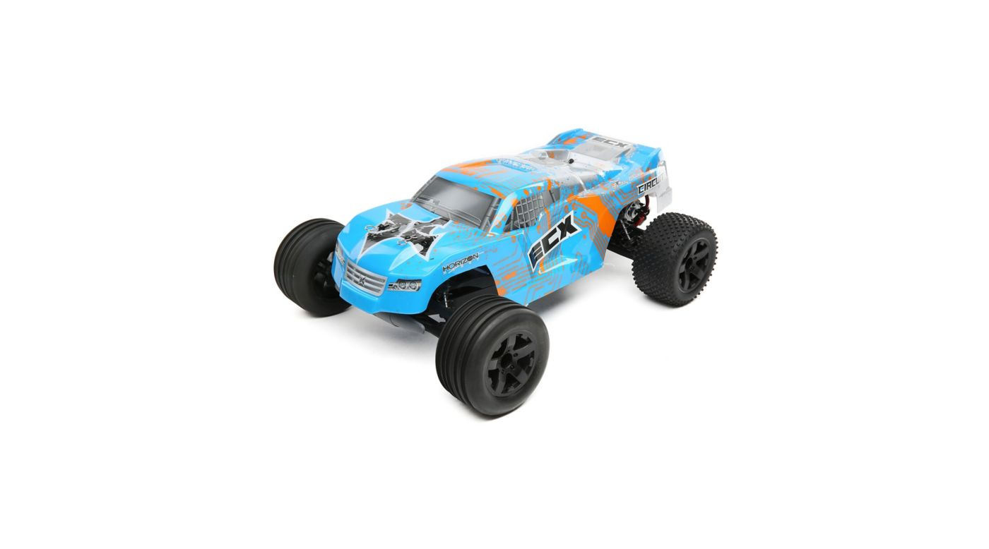 Image for 1/10 Circuit 2WD Stadium Truck Brushed with LiPo RTR, Blue/Orange from HorizonHobby